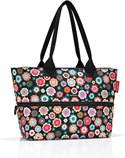 Reisenthel shopper e1 Borsa da spiaggia, 50 cm, 18 liters, Multicolore (Happy Flowers)