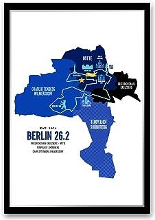 Run Ink Berlin 26.2 Marathon Course Map Poster (12