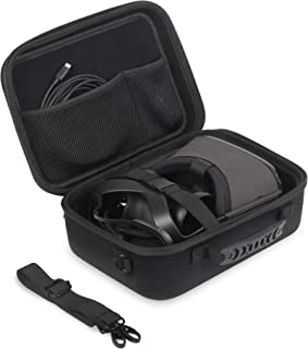 JSVER Travel Case for Oculus Quest Hard Shell EVA All-in-one VR Gaming Headset Case Carrying Protective Box with Shoulder Strap (Black)