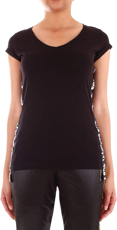 4US CESARE PACIOTTI Women's TA5203black Black Cotton TShirt