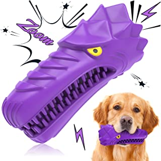 Tail Vibe Dog Chew Toy for Medium & Large Dogs - 2-in-1 Durable Dog Toy for Aggressive Chewers & Teeth Cleaner, 100% Natur...
