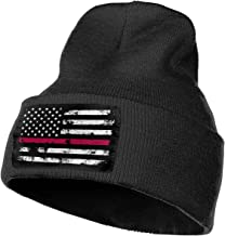 Firefighter Thin Red Line American Flag Unisex Knit Cap Classic Beanie Hat