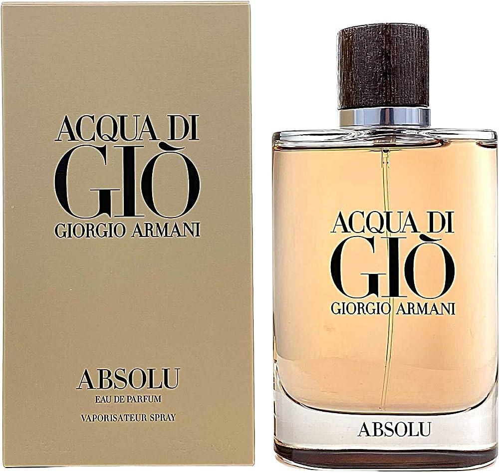 Armani, acqua di gio absolu eau de parfum per donna,spray- 125 ml 3614271992932