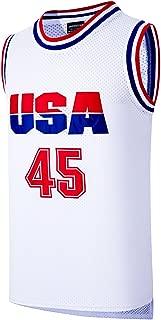 JOLI SPORT Donald Trump 45 USA Basketball Jersey White S-XXXL