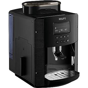 Krups Pisa EA81P0 - Cafetera súper automática, 15 bares, molinillo café cónico de metal, selección de cantidad e intensidad de café, depósito 1.7 L , Función automática vapor, pantalla LCD: Amazon.es: Hogar