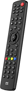 One For All Contour 8 Universal Remote Control – Operates 8 Devices (TV Freeview Blu-ray Media Streamer IR Game and Audio)...