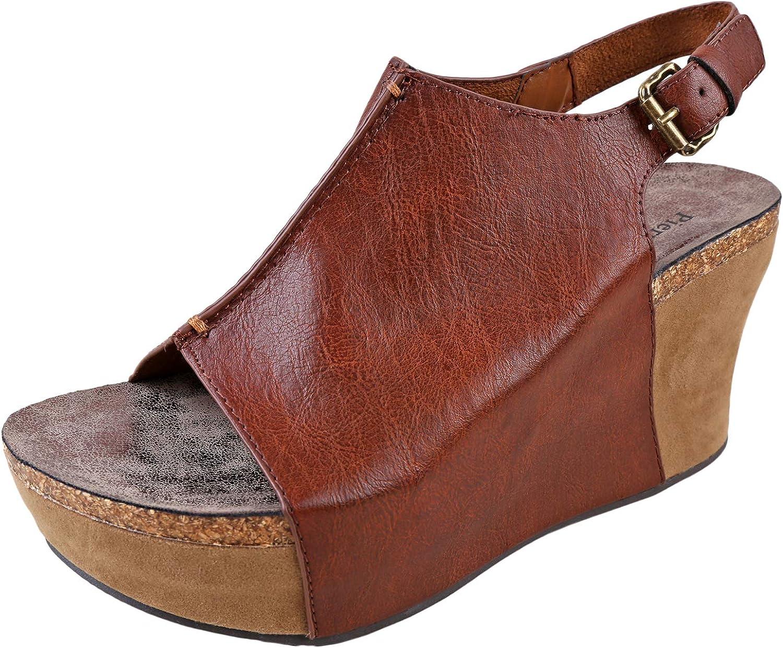 Pierre Dumas Hester-14 Women's Platform Wedge Open Toe Sandals