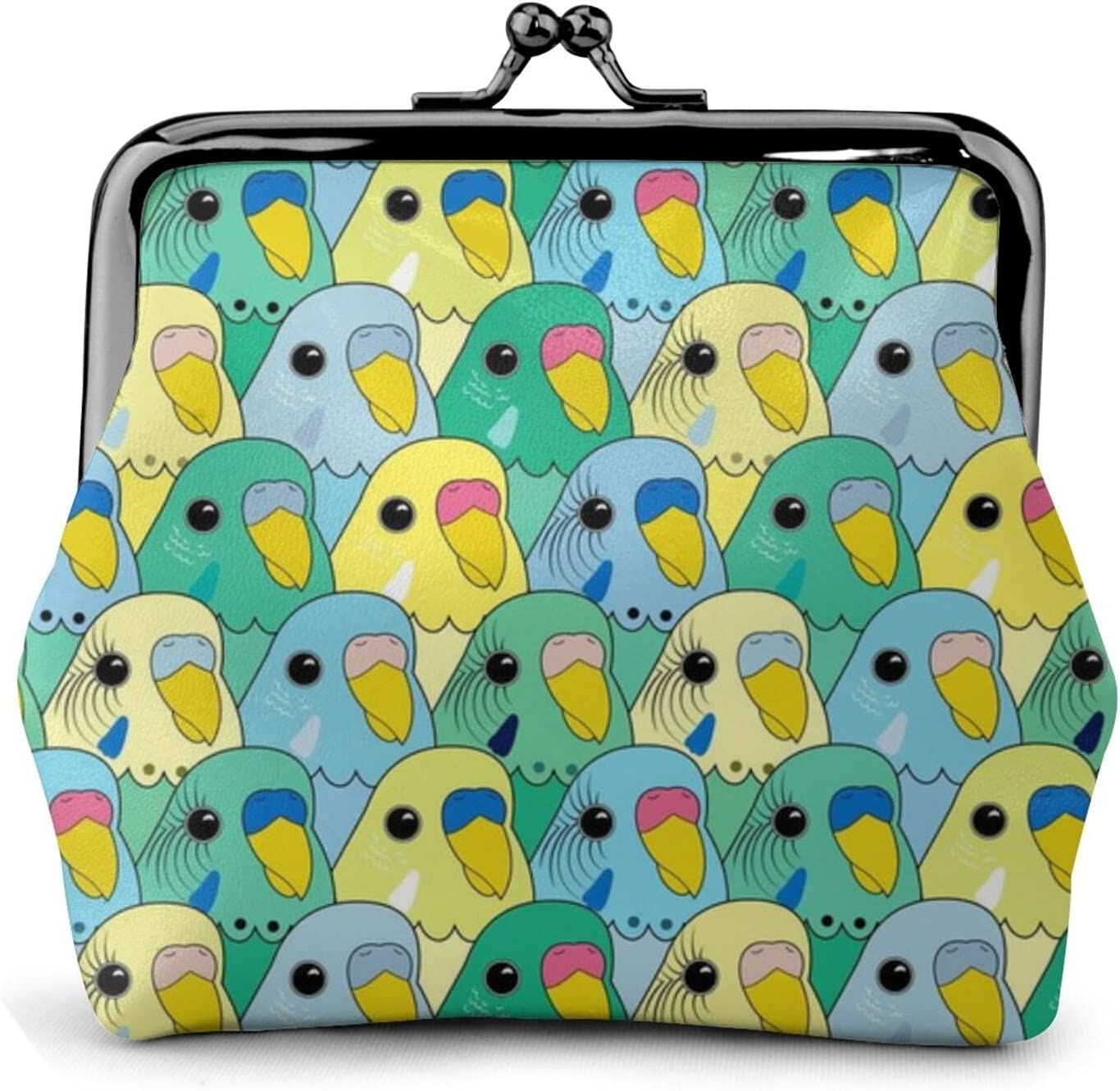 Birbs On Birbs 524 Leather Coin Purse Kiss Lock Change Pouch Vintage Clasp Closure Buckle Wallet Small Women Gift