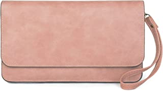 styleBREAKER Damen Clutch mit Überschlag und Trageschlaufe, Abendtasche, Portemonnaie 02012259