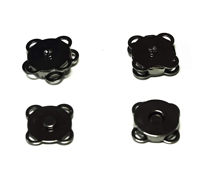 All in ONE 20 Sets Magnetic Button Clasp Snaps for Sewing Craft Bag Clothing Scrapbooking No Tools Required … (Gun Black Sew On 18mm)