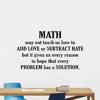 Math Wall Decal Quote Math May Not Teach Us How to Add Love Science Sign Mathematics Classroom Wall Decal Teacher Gift Education Vinyl Sticker Print Study Wall Art Kids School Wall Decor Poster 198bar