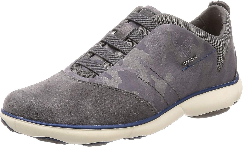 Geox Mens Nebula Nylon and Suede Sneaker Sneaker