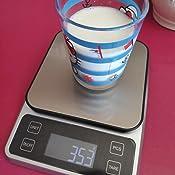 B/áscula de Cocina Digital de Precisi/ón con LCD Pantalla Peso Cocina Vascula Cocina con Funci/ón de Tara Peso Cocina Digital Negro Zorara Balanza Cocina 5kg//0.1g B/áscula Digital para Cocina