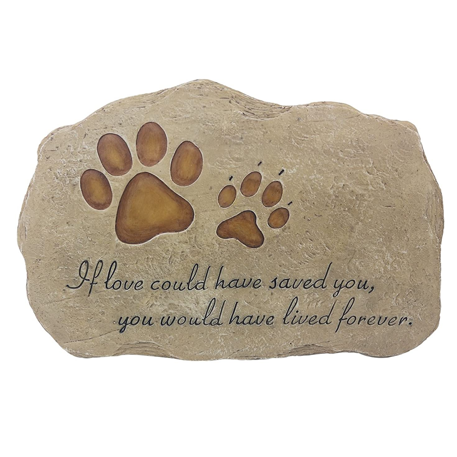 JSYS Pet Memorial Stone Marker for Dog or Cat for Outdoor Garden, Backyard, or Lawn.