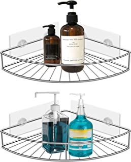 Seven Sparta 2 Pack Corner Shower Caddy Adhesive Stainless Steel Storage Organizer Shelf with Waterproof Stickers for Kitchen Toilet, No Drilling Required