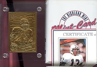 1993 1984#123 Dan Marino ROOKIE Highland Mint Card Bronze Metal Mint-Card