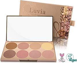 Paleta Exclusiva de Iluminadores Prime Glow para cada tipo de piel – 8 Colores Brillantes en Polvo, para Profesionistas y Principiantes – Set Vegano/No testado en animales