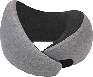 RUN-TIGER Model P9 -Air Travel Neck Pillow - Memory Foam with Chin Support - Adjustable with Hook and Loop - Comfort at Sleeping on Plane - Prefect Head Support - Washable Outer Fabric