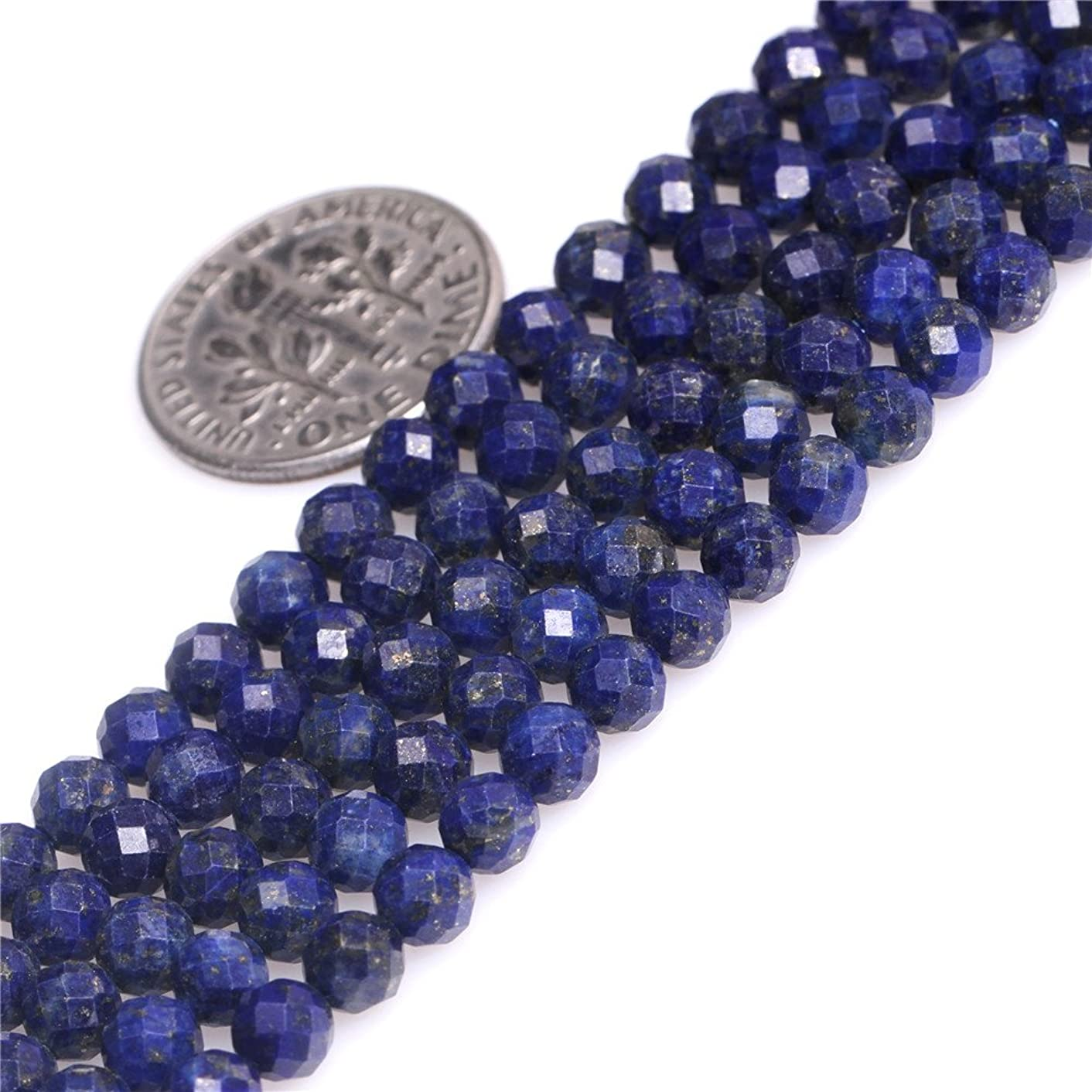 5mm Natural Blue Lapis Lazuli Gemstone Semi Precious Round Faceted Beads for Jewelry Making