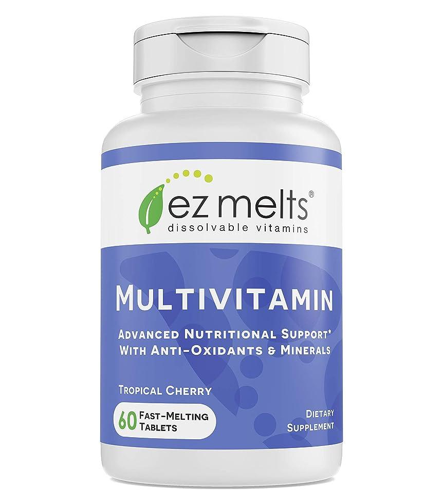 EZ Melts Multivitamin, Sublingual Vitamins, Vegan, Zero Sugar, Natural Cherry Flavor, 60 Fast Dissolve Tablets