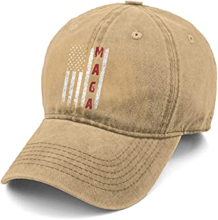 Make America Great Again MAGA Custom Vintage Newest Men   Women Adjustable  Denim Dad Hat Cotton 2de57e622b69