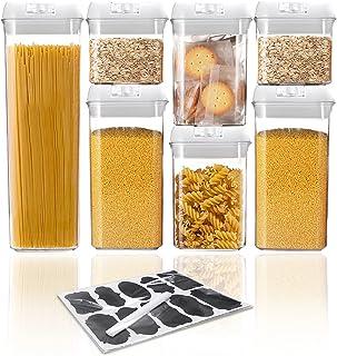 VIVILINEN Boîtes de Conservation Alimentaire Lot de 7 Ensemble de Boîtes de Rangement Plastiques hermétiques sans BPA avec...