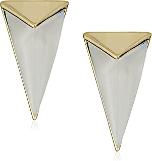 Alexis Bittar Faceted Pyramid Post Stud Earrings