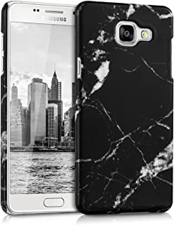 kwmobile Case for Samsung Galaxy A5 (2016) - Hard Plastic Anti-Scratch Shockproof Protective Smartphone Cover - Black/White