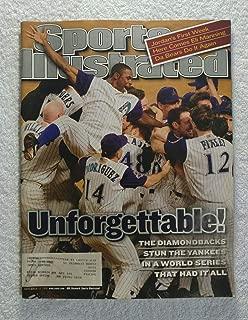 Unforgettable! - Arizona Diamondbacks - 2001 World Series Champions - Sports Illustrated - November 12, 2001 - New York Yankees - SI