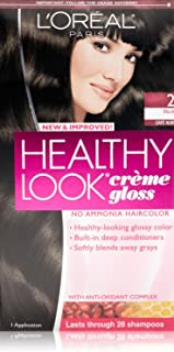 3 Pk, L'Oreal Paris Healthy Look Creme Gloss, Black / Cafe Noir #2