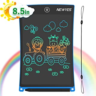 NEWYES 8.5 Inches Colored Doodle Board for Toddlers LCD Screen Writing Tablet with Lock..