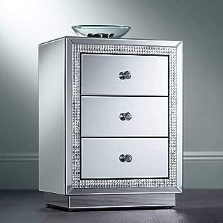 abbyson omni mirrored 2 drawer chest