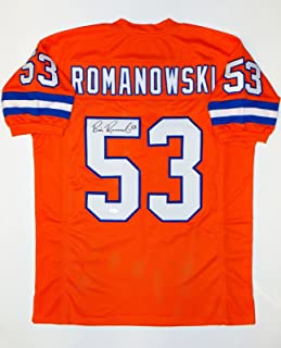 Bill Romanowski Autographed Pro Style Orange Jersey- JSA Witnessed Authenticated