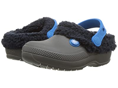 Crocs Kids Classic Blitzen III Clog (Toddler/Little Kid) (Slate Grey/Navy) Kids Shoes