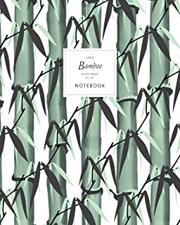 Bamboo Notebook - Ruled Pages - 8x10 - Large: (White Edition) Notebook 192 ruled/lined pages (8x10 inches / 20.3x25.4 cm /...