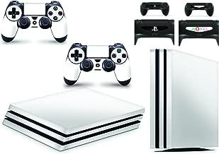 Gizmoz n Gadgetz PS4 PRO Console White Colour Skin Decal Vinal Sticker + 2 Controller Skins Set