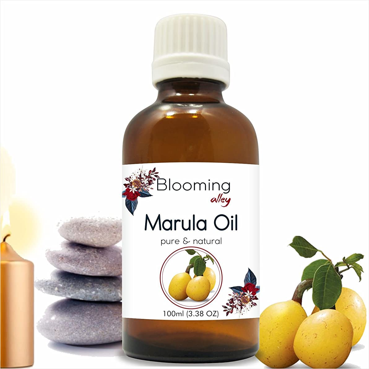 発送すなわち不純Marula Oil (Sclerocarya Birrea) Carrier Oil 100 ml or 3.38 Fl Oz by Blooming Alley