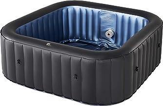 MSPAUK Tekapo Latest 2021 Mspa Portable Hot Tub Round Square 2/4/6 Persons Outdoor Bubble Spa Pool Jacuzzi Inflation Smart...