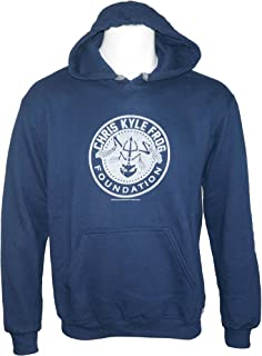 Club Red Chris Kyle Frog Foundation Men's Logo Pullover Hoodie Blue