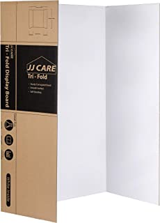 """[Heavy Duty] 36"""" x 48"""" Trifold Poster Board; Corrugated Cardboard Panel; Presentation Board for Art Projects and Science Fair Board by JJ Care … (1)"""