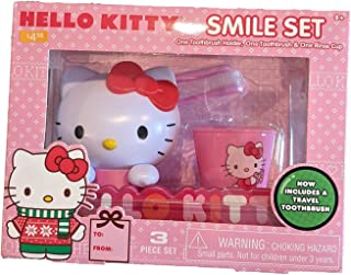 Hello Kitty Smile Set (One Toothbrush Holder, One Toothbrush, & One Rinse Cup)