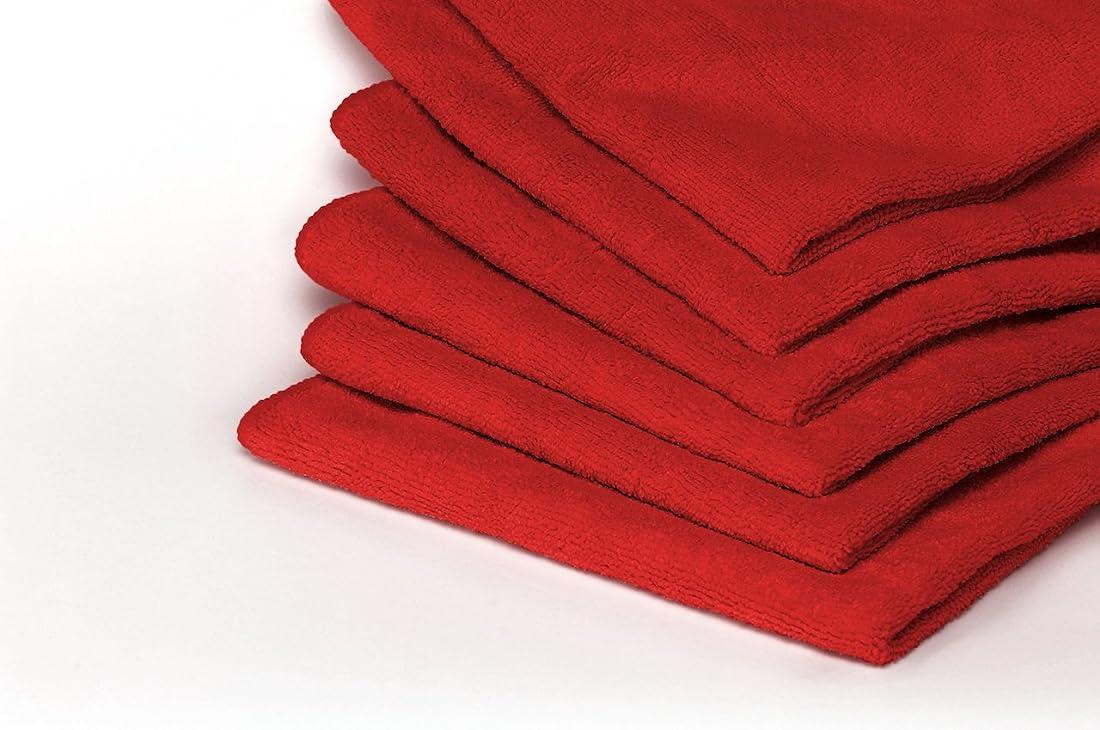 情緒的強化シャッフル(Pack of 40, Red) - Heininger 5413 GarageMate Red Microfiber Towel, (Pack of 40)
