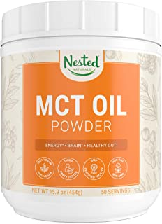 MCT Oil Powder with Prebiotic Acacia Fiber Unflavored | Keto Diet Powder for Coffee, Shakes & Smoothies | Zero Net Carbs M...