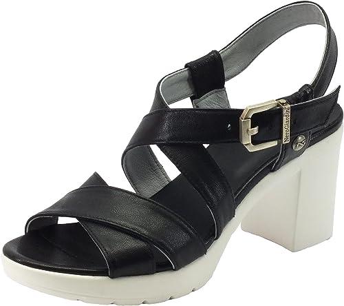 schwarz Giardini P717750d Leon schwarz, schwarz, schwarz, Damen Sandalen  erschwinglich