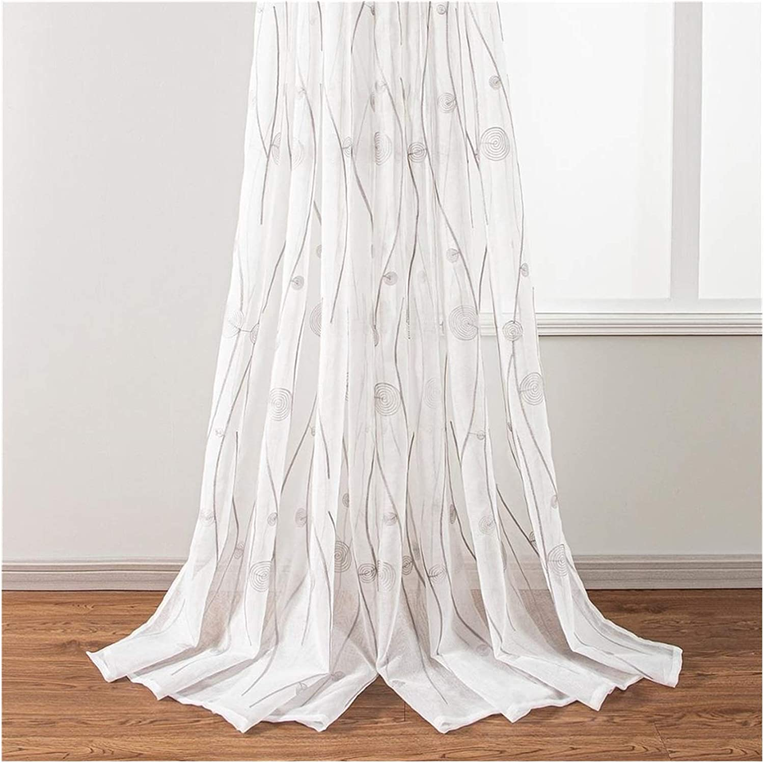 YANGDONG Translucent Tulle Curtains Patio Sole In stock Ring Do 70% OFF Outlet