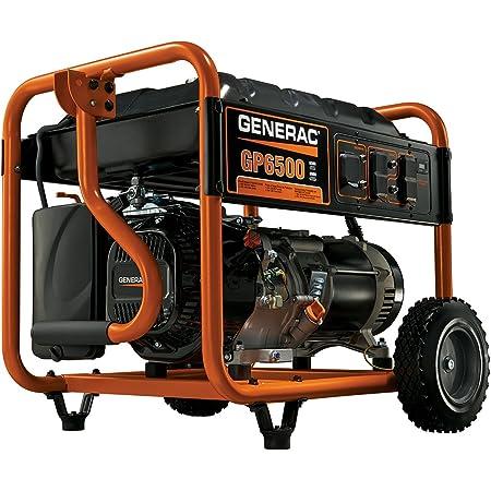 Generac 5940 GP6500 6500 Running Watts/8000 Starting Watts Gas Powered Portable Generator
