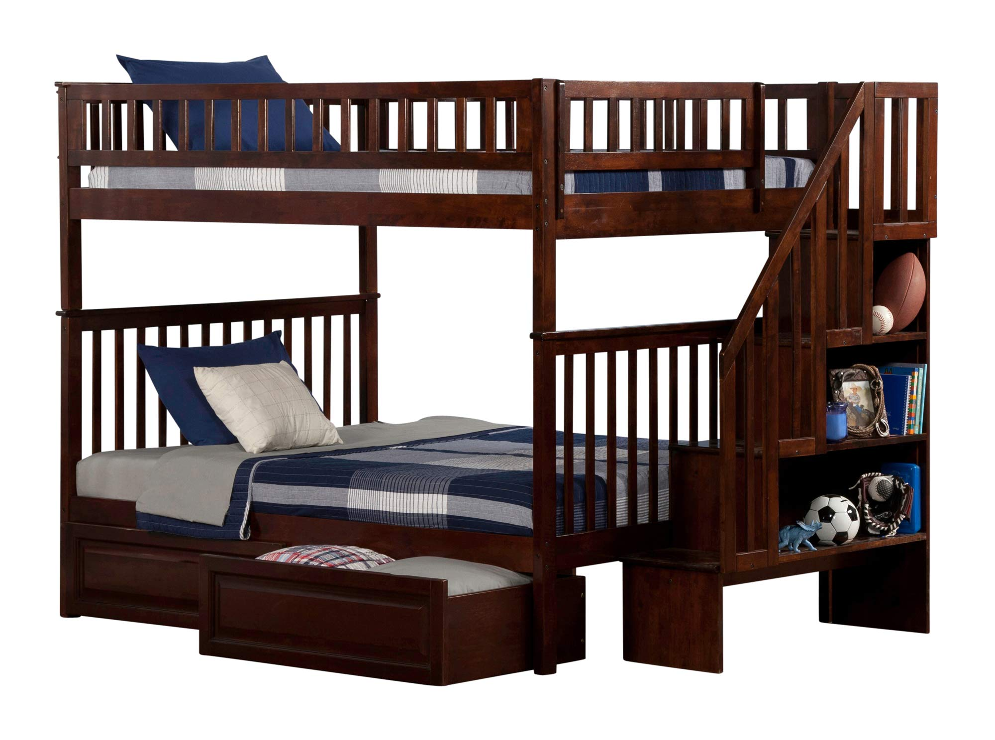 Atlantic Furniture Bed, Full, Walnut