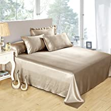 Lilysilk 1B02-04-QN 100% Mulberry Silk Sheets Set 4pcs 19 Momme Queen Coffee