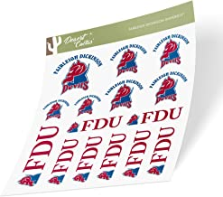 Fairleigh Dickinson University FDU Knights Devils NCAA Sticker Vinyl Decal Laptop Water Bottle Car Scrapbook (Type 1 Sheet)
