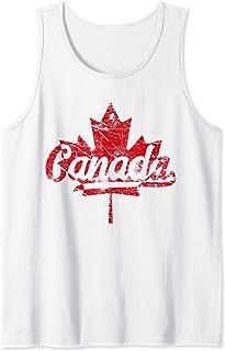 Canada Retro Vintage Drapeau canadien Feuille d'érable Débardeur